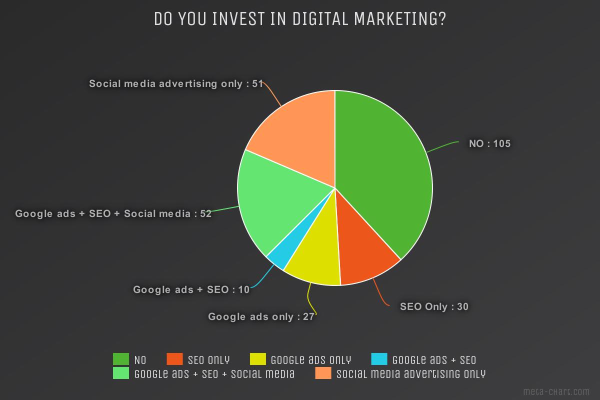 Chimney sweep survey Do you invest in digital marketing?