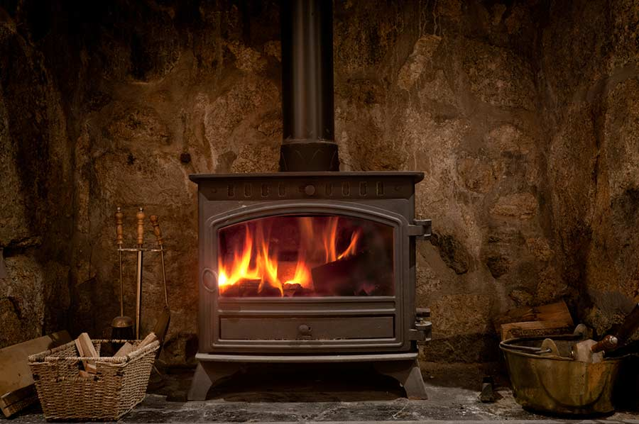Wood burning stove maintenance
